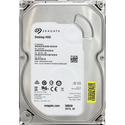 Gebruikte Seagate 500GB 3.5 inch SATA
