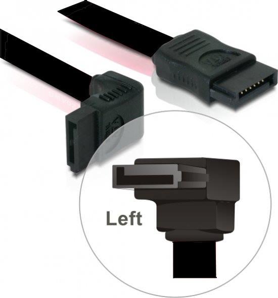 Delock - Kabel SATA 20cm haaks Links zwart