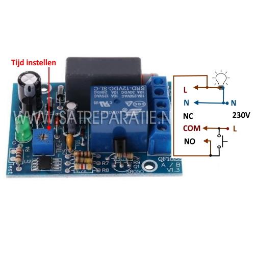 AC 230V Verstelbare Timer Schakelaar module