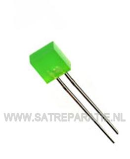 5mm Groen Led vierkant, zakje van 10 stuks