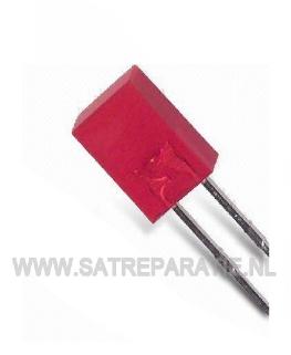 5mm Rode Led vierkant, zakje van 10 stuks