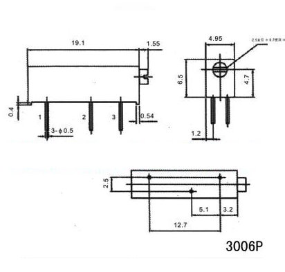 100ohm 3006P Trimpot Trimmer Potentiometer