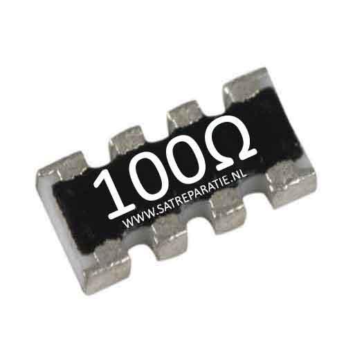 Weerstand SMD netwerk 4x 100 ohm, 5%