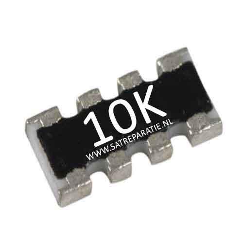 Weerstand SMD netwerk 4x 10K ohm, 5%
