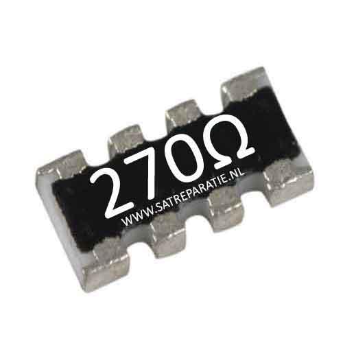 Weerstand SMD netwerk 4x 270 ohm, 5%,  zakje van 10 stuks