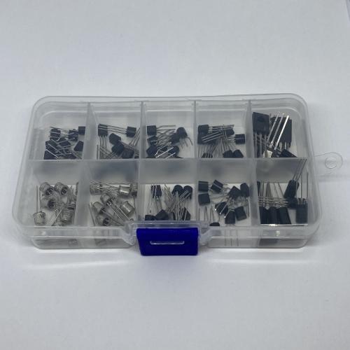 200-delige TO-92 NPN PNP bipolaire transistor, 10 waarde assortiment, 20 stuks per waarde