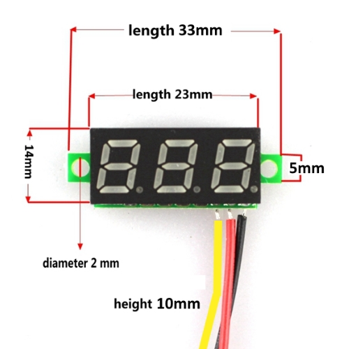 Mini digitale voltmeter tester DC 0-100V, Blauw