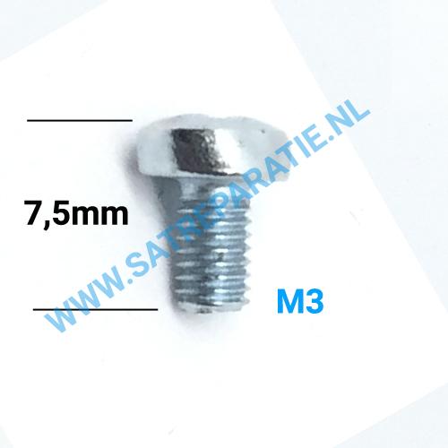 M3 Zilver schroeven, zakje van 10 stuks