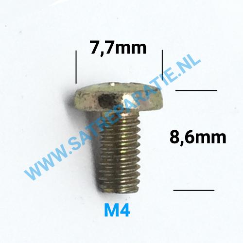 M4x8 messing schroeven, 4x8mm, zakje van 10 stuks