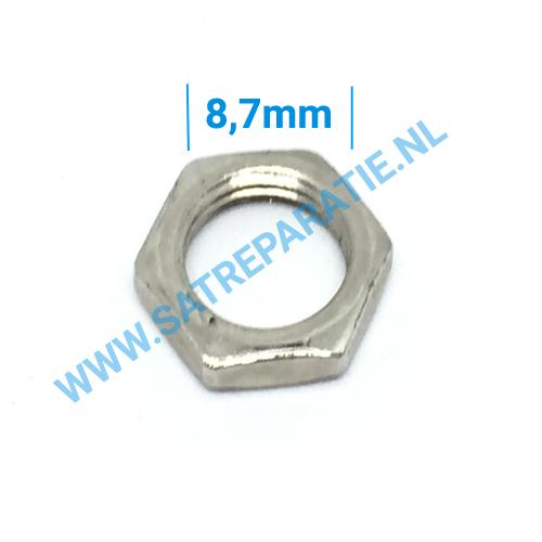 Tuner zilver moertjes, zakje van 10 stuks