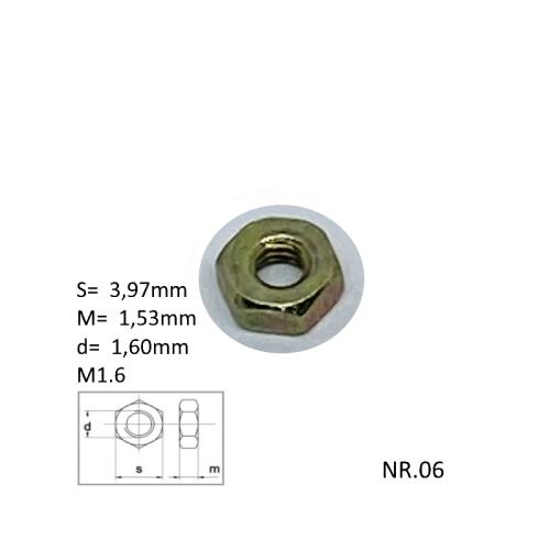M 1.6 Metal moeren, verpakt per 10 stuks