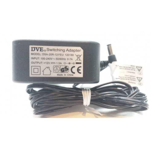 DVE DSA-20R-12 adapter 12V, 1.5A